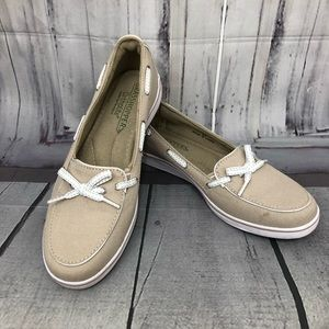 Grasshoppers Ortholite Beige Boat Shoes Support 6M